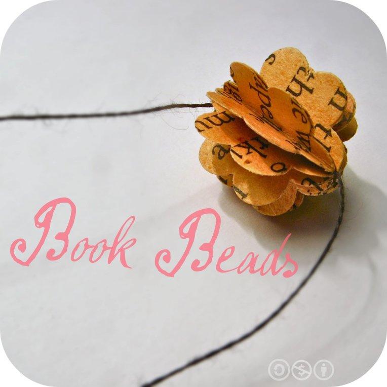 beads that look like teeny-tiny tomes