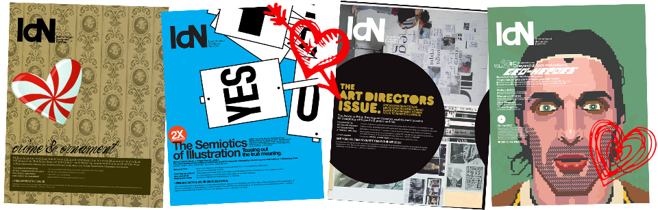 four back issues of IdN magazine