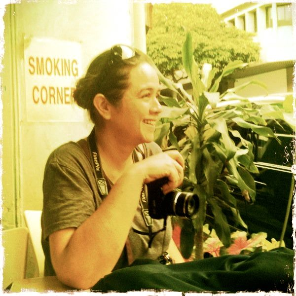 smoking in this corner, at the Chin Chin Food House...