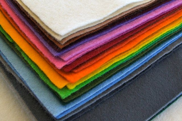 a stack of rainbow felt from Bumble Bee Crafts
