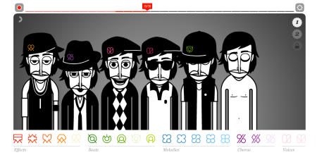 Screen shot of the Incredibox interface