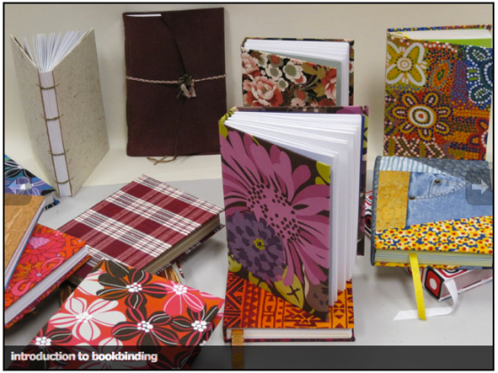 photo of finished books by my students, via the CSC ANC website