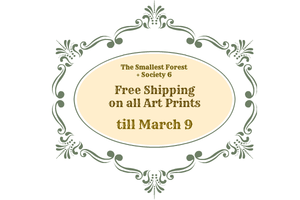 Free Shipping on Art Prints till March 9