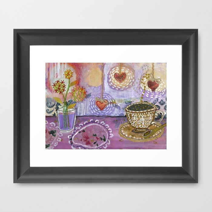 tea-with-lady-lavender-framed-prints